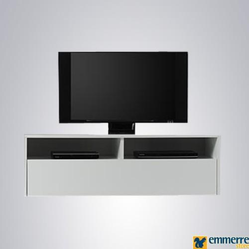 Porta Tv bianco laccato lucido disponibile in pronta consegna L.139 P.41 H.44 cm